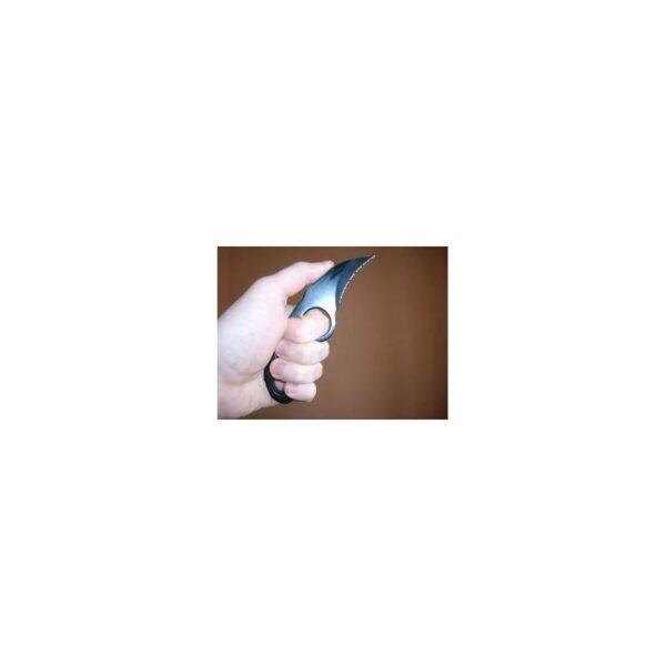 16200 - Городской полносеррейторный нож «Медвежий коготь»: 5 см клинок из нержавеющей стали