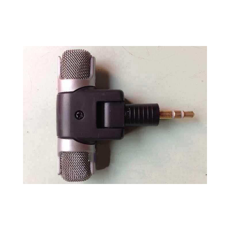 Цифровой электретный стерео мини-микрофон ECM-DS70P для фотоаппарата, диктофона, смартфона: без батареи, 3.5 мм аудиоразъем