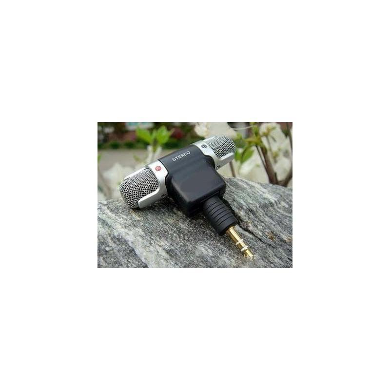 Цифровой электретный стерео мини-микрофон ECM-DS70P для фотоаппарата, диктофона, смартфона: без батареи, 3.5 мм аудиоразъем 197193