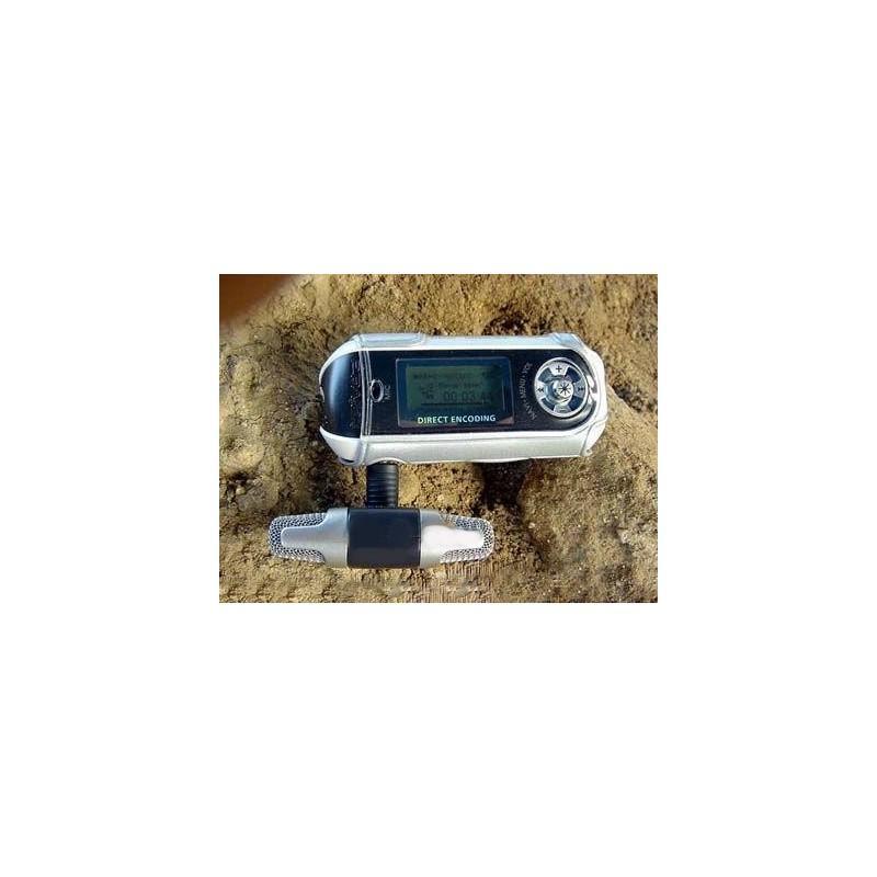 Цифровой электретный стерео мини-микрофон ECM-DS70P для фотоаппарата, диктофона, смартфона: без батареи, 3.5 мм аудиоразъем 197194