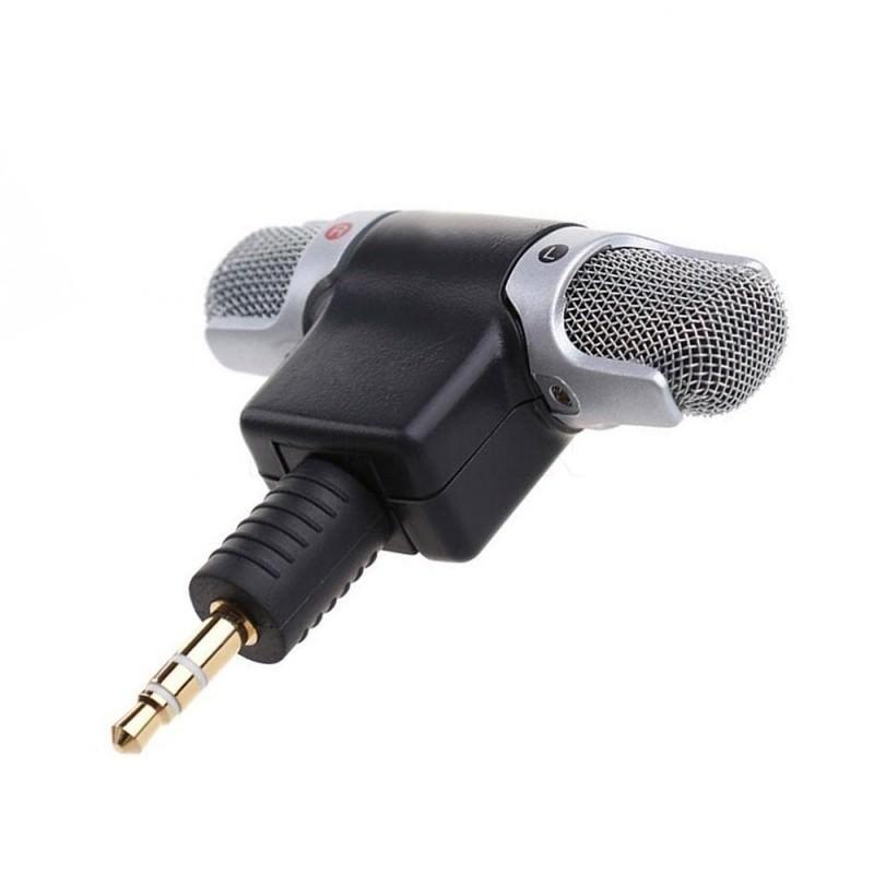 Цифровой электретный стерео мини-микрофон ECM-DS70P для фотоаппарата, диктофона, смартфона: без батареи, 3.5 мм аудиоразъем 197197
