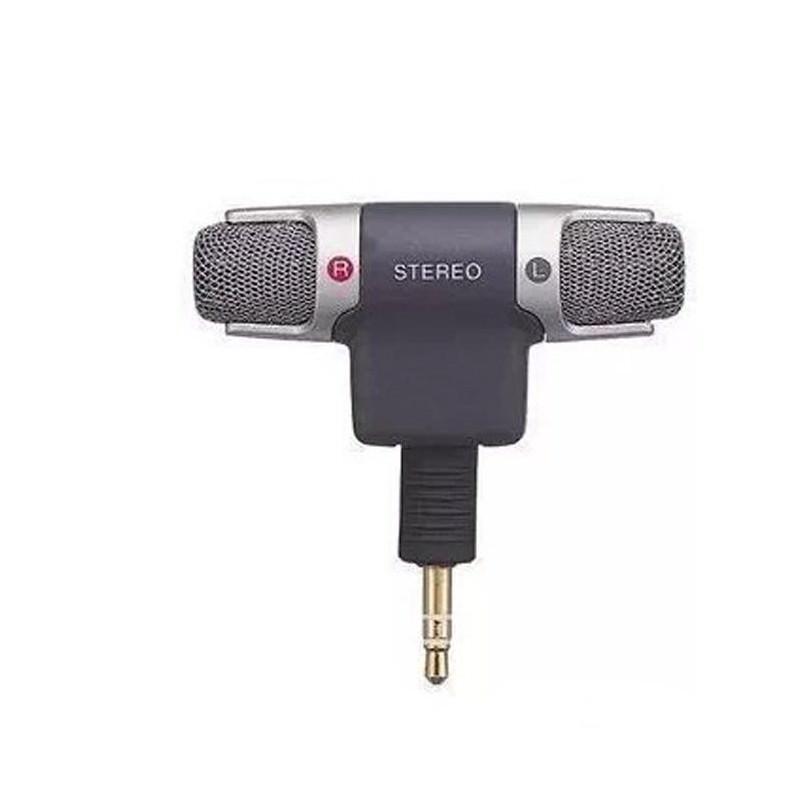 Цифровой электретный стерео мини-микрофон ECM-DS70P для фотоаппарата, диктофона, смартфона: без батареи, 3.5 мм аудиоразъем 197198