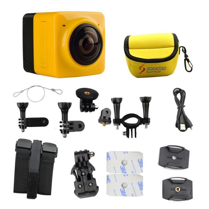 Панорамная 360-градусная экшн-видеокамера Soocoo Cube 360: Wi-Fi, CMOS, 360/190° видео с разрешением 1280 х 1042, 1300 мАч 197244