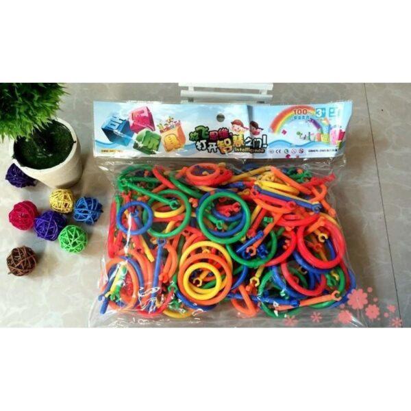 16990 - Детский развивающий конструктор Свой сад - 265 деталей, палочки, кольца