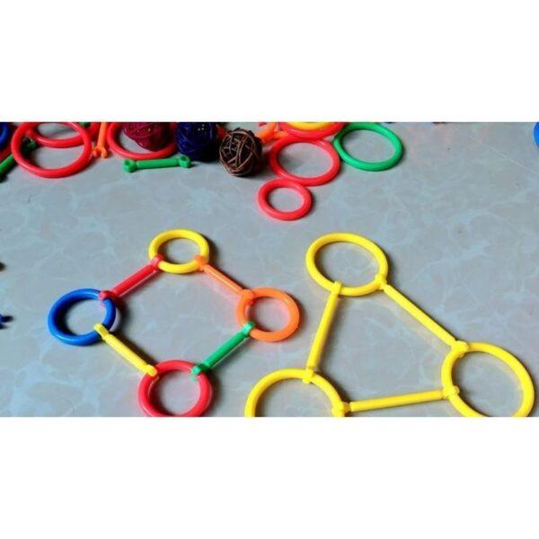 16991 - Детский развивающий конструктор Свой сад - 265 деталей, палочки, кольца