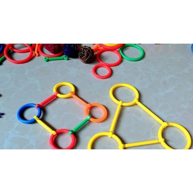Детский развивающий конструктор Свой сад – 265 деталей, палочки, кольца 197267