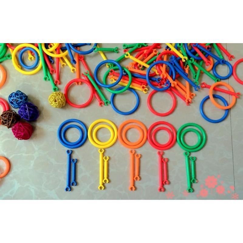 Детский развивающий конструктор Свой сад – 265 деталей, палочки, кольца