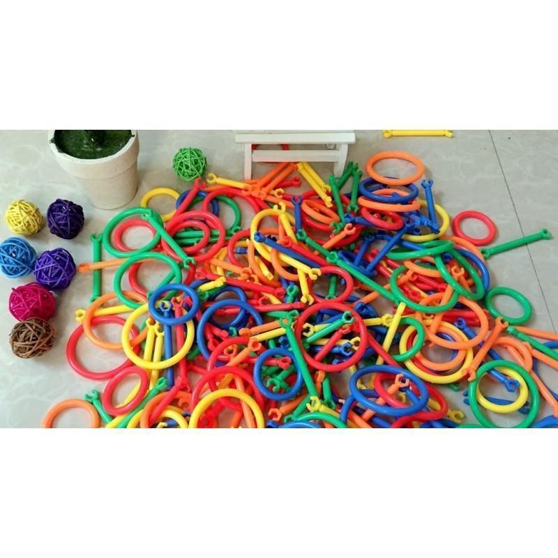 Детский развивающий конструктор Свой сад – 265 деталей, палочки, кольца 197270