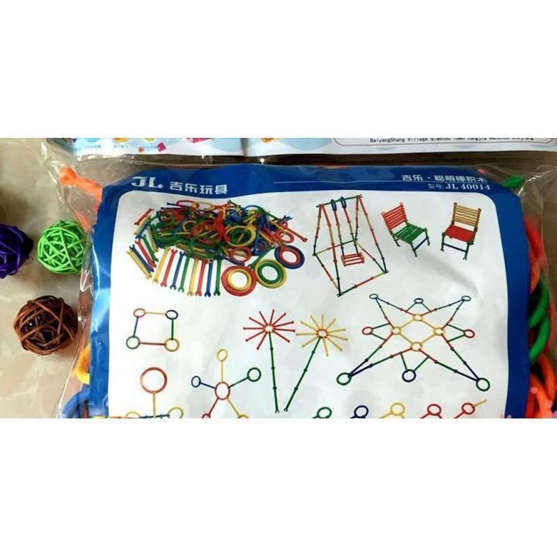 Детский развивающий конструктор Свой сад – 265 деталей, палочки, кольца 197271