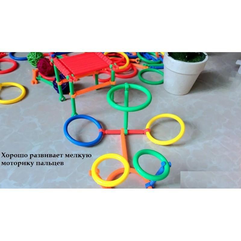 Детский развивающий конструктор Свой сад – 265 деталей, палочки, кольца 197273