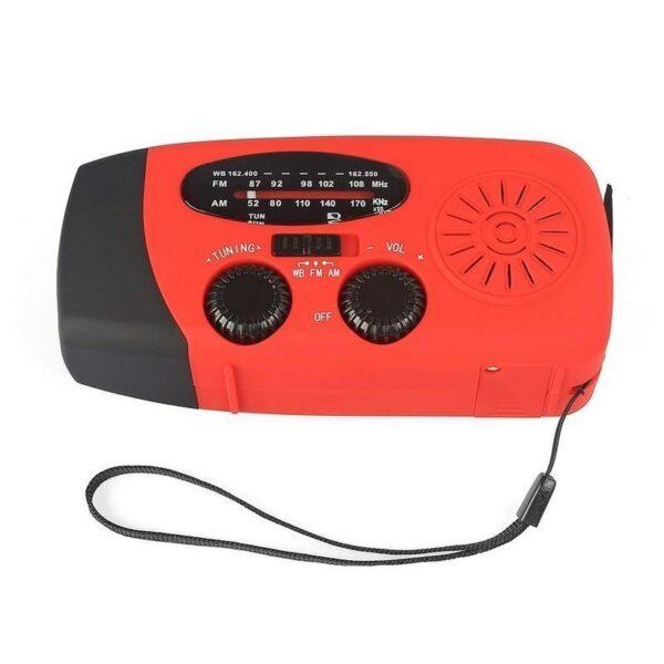 17363 - Радиоприемник WAY со встроенным фонарем, динамо-машиной, солнечной батареей и функцией Powerbank
