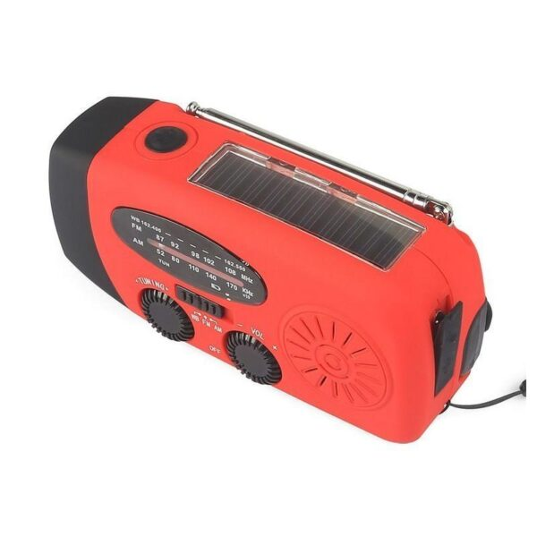 17365 - Радиоприемник WAY со встроенным фонарем, динамо-машиной, солнечной батареей и функцией Powerbank