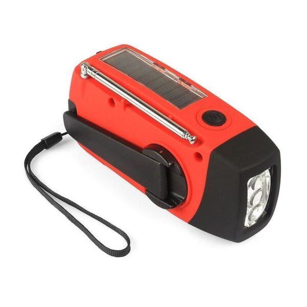 17366 - Радиоприемник WAY со встроенным фонарем, динамо-машиной, солнечной батареей и функцией Powerbank