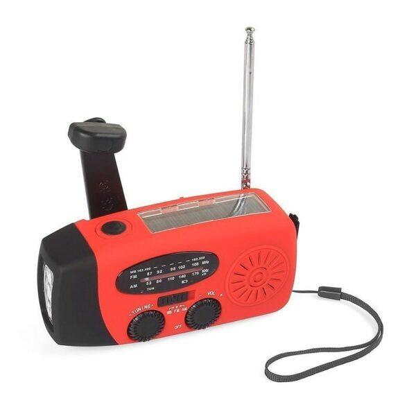 17367 - Радиоприемник WAY со встроенным фонарем, динамо-машиной, солнечной батареей и функцией Powerbank