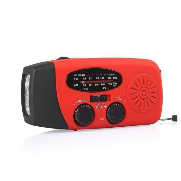 17371 - Радиоприемник WAY со встроенным фонарем, динамо-машиной, солнечной батареей и функцией Powerbank