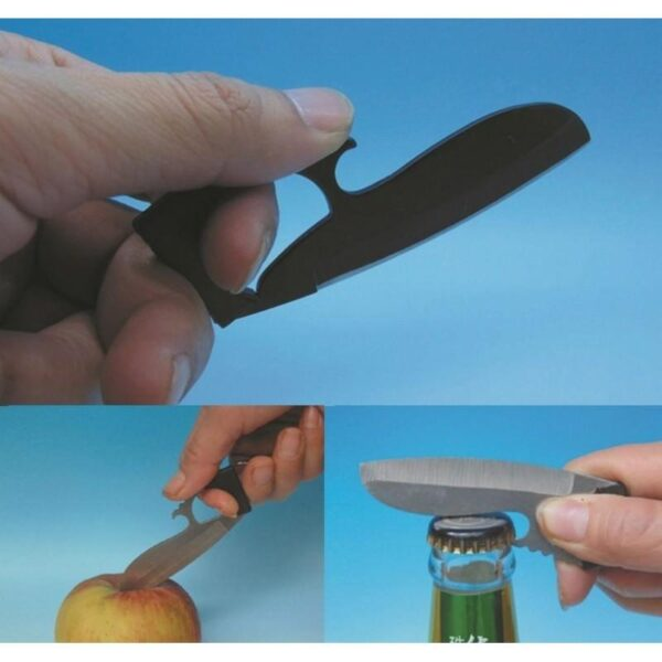 17395 - Пальцевый нож-кредитка Sabl - большое лезвие, скрытное ношение