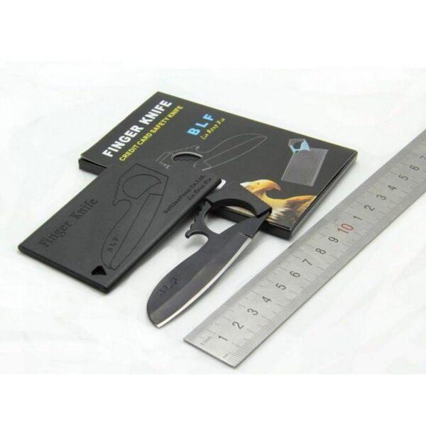 17400 - Пальцевый нож-кредитка Sabl - большое лезвие, скрытное ношение