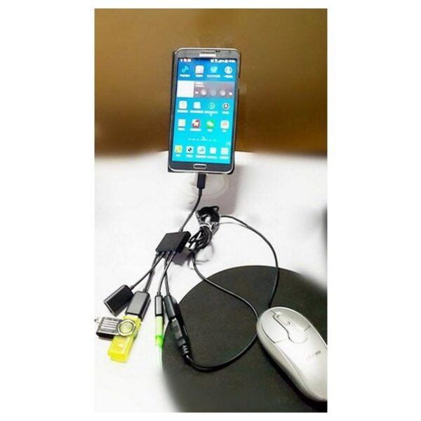 17434 - Micro USB OTG HUB с зарядкой для планшетов и смартфонов