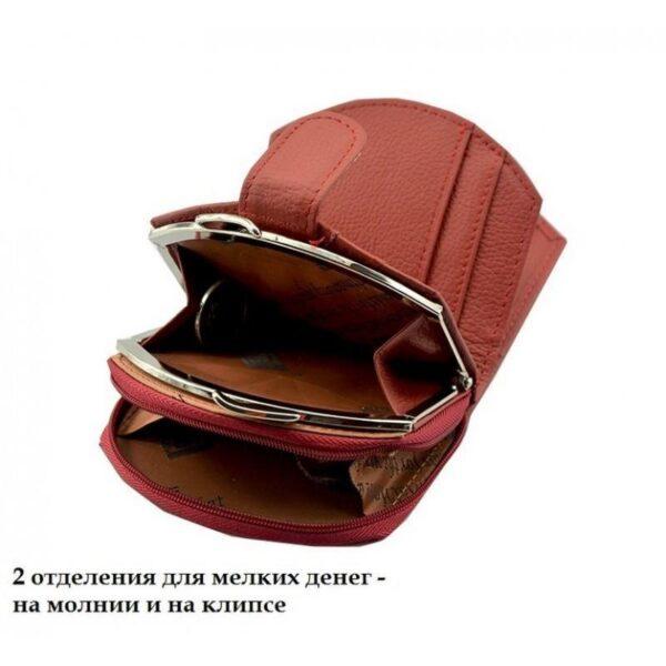 17541 - Женский кошелек-портмоне HORSE Imperial - натуральная кожа, отделения для купюр, мелочи и карт, 3 цвета