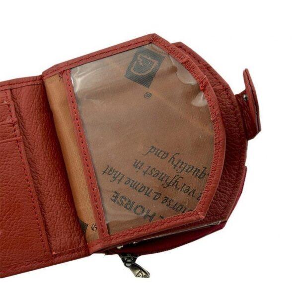 17550 - Женский кошелек-портмоне HORSE Imperial - натуральная кожа, отделения для купюр, мелочи и карт, 3 цвета