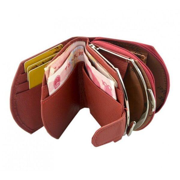 17554 - Женский кошелек-портмоне HORSE Imperial - натуральная кожа, отделения для купюр, мелочи и карт, 3 цвета