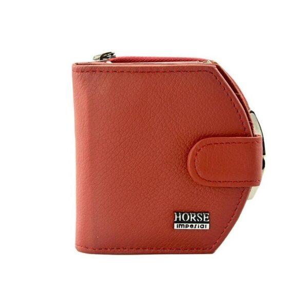 17559 - Женский кошелек-портмоне HORSE Imperial - натуральная кожа, отделения для купюр, мелочи и карт, 3 цвета