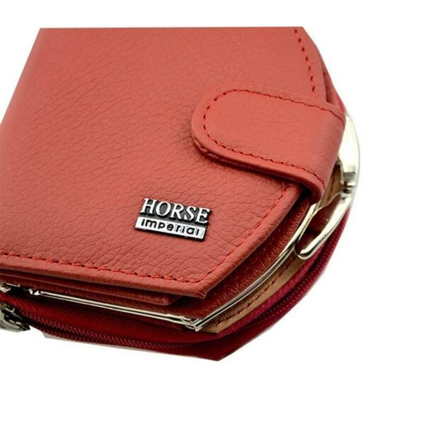 17564 - Женский кошелек-портмоне HORSE Imperial - натуральная кожа, отделения для купюр, мелочи и карт, 3 цвета