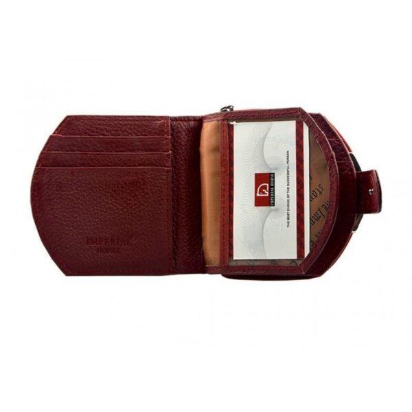 17567 - Женский кошелек-портмоне HORSE Imperial - натуральная кожа, отделения для купюр, мелочи и карт, 3 цвета
