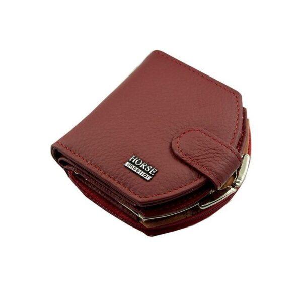 17569 - Женский кошелек-портмоне HORSE Imperial - натуральная кожа, отделения для купюр, мелочи и карт, 3 цвета