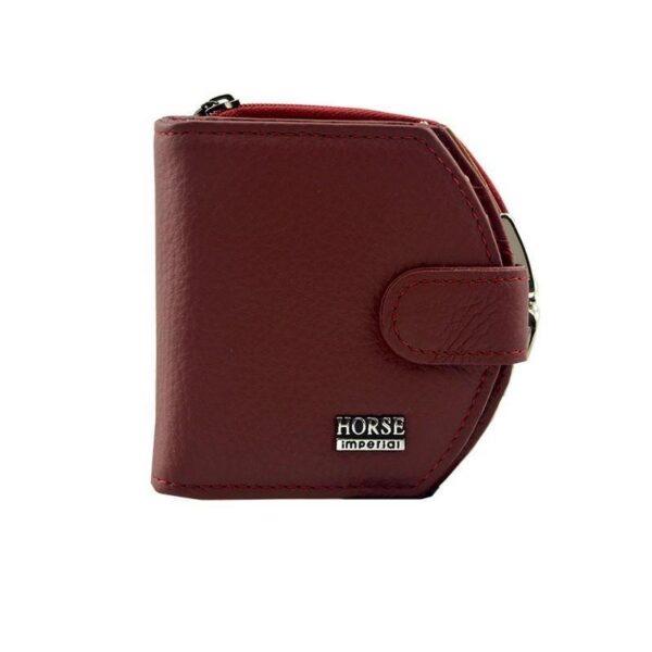17571 - Женский кошелек-портмоне HORSE Imperial - натуральная кожа, отделения для купюр, мелочи и карт, 3 цвета