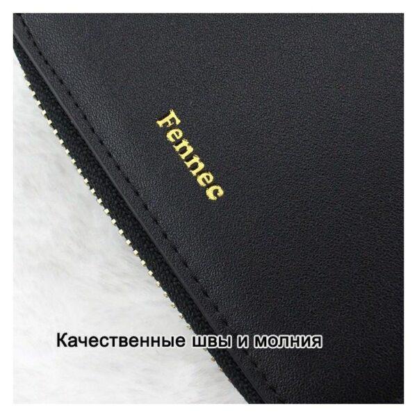 17584 - Изысканный женский кошелёк Fennec: кожа, 11 х 11 х 2 см