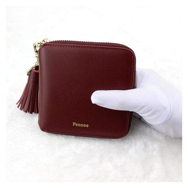 17596 - Изысканный женский кошелёк Fennec: кожа, 11 х 11 х 2 см