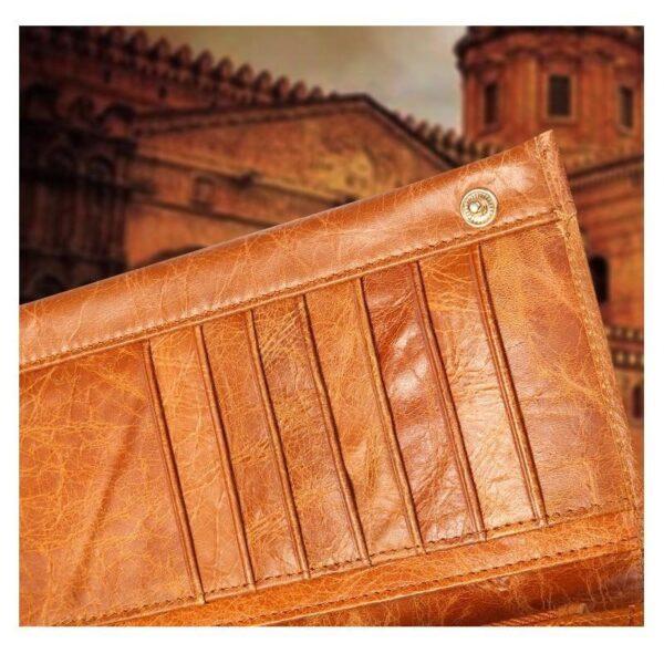 17606 - Классический женский кожаный кошелек Eleganti: натуральная кожа