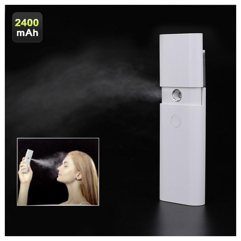 Спрей для лица + Powerbank – 10 мл, 2400 мАч, ABS-пластик