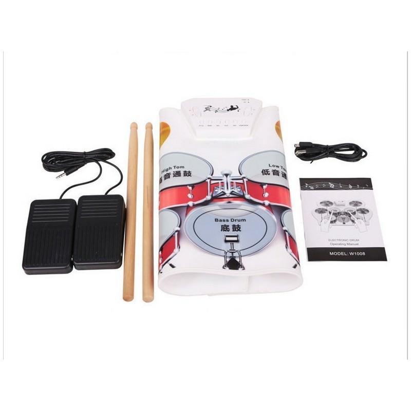 USB midi ударная установка Konix W1008 – 5 барабанов, 4 тарелки, поддержка записи и редактирования 198242