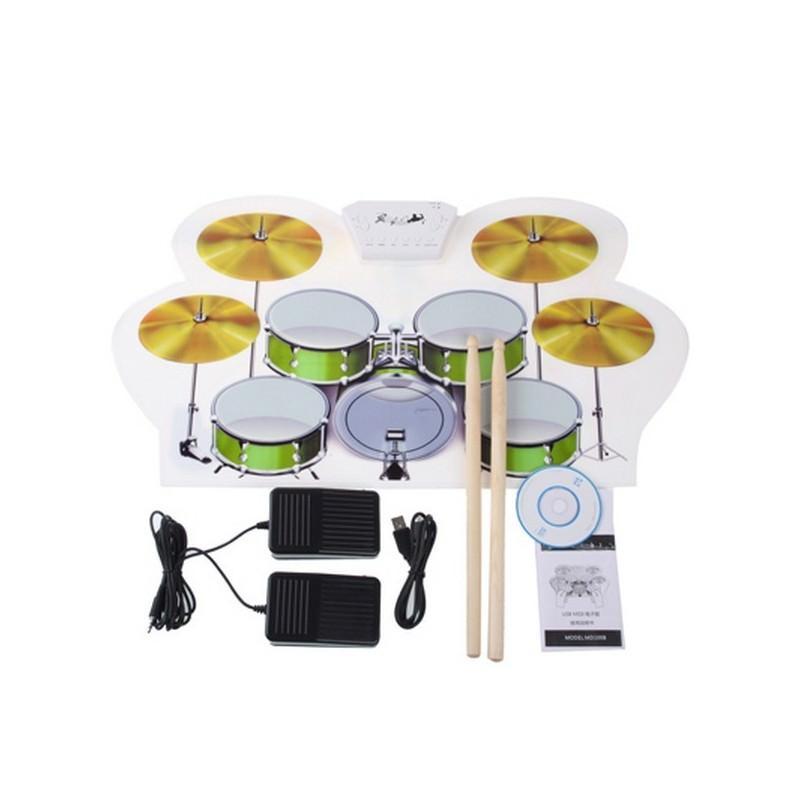 USB midi ударная установка Konix W1008 – 5 барабанов, 4 тарелки, поддержка записи и редактирования 198248