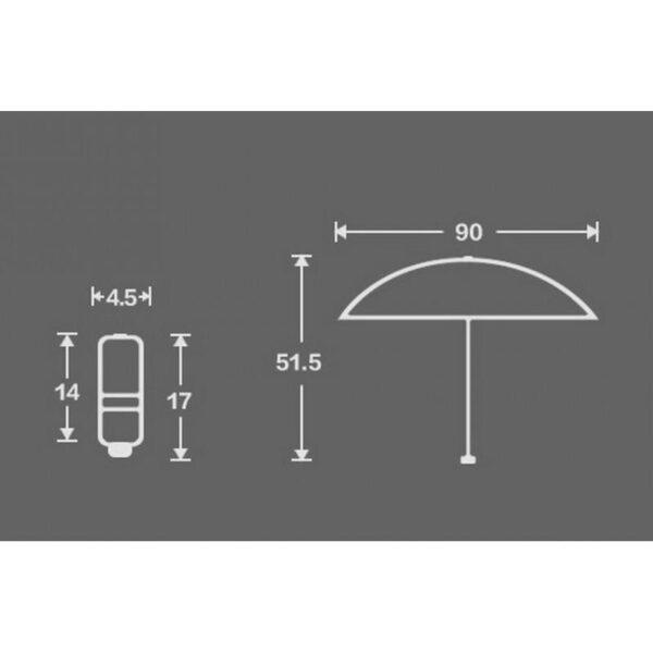 18172 - Универсальный карманный зонтик - винил, 4 цвета, гибкая клипса