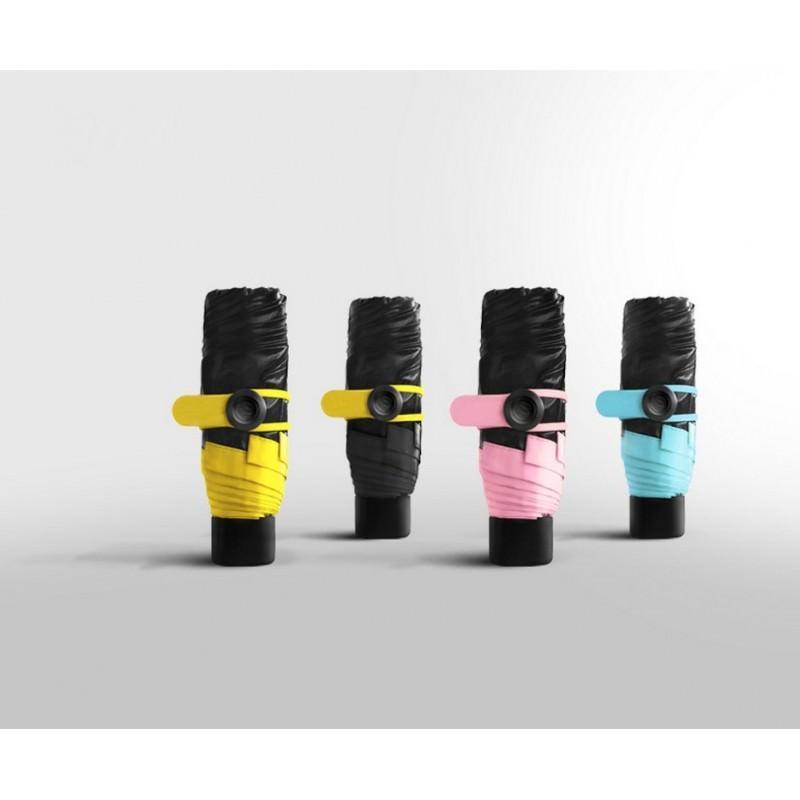 Универсальный карманный зонтик – винил, 4 цвета, гибкая клипса