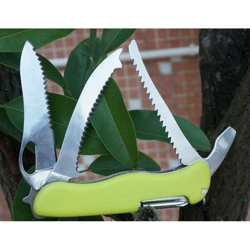 Многофункциональный нож для выживания – флуоресцентная рукоятка, 8 в 1, сталь 9C17 198350