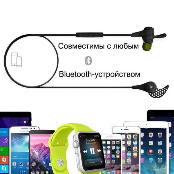 18229 - Беспроводные Bluetooth наушники-гарнитура JayBird X2: влагозащищенные, подушки из силикона и memory foam + 3 пары креплений