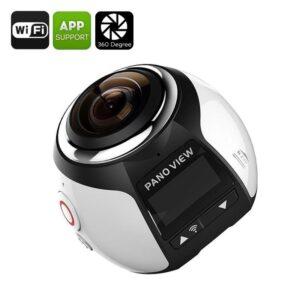 Панорамная спортивная камера Pand View – 360 градусов, 4К, 30 м под водой, 30fps, 16 Мп, Wi-Fi, HDMI