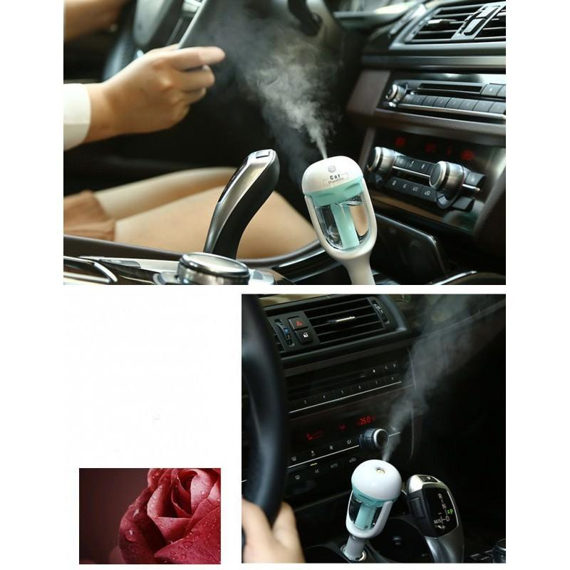 Автомобильный увлажнитель/ освежитель воздуха NanoFog: 2 режима работы, объем 50 мл, можно использовать аромамасла 198453