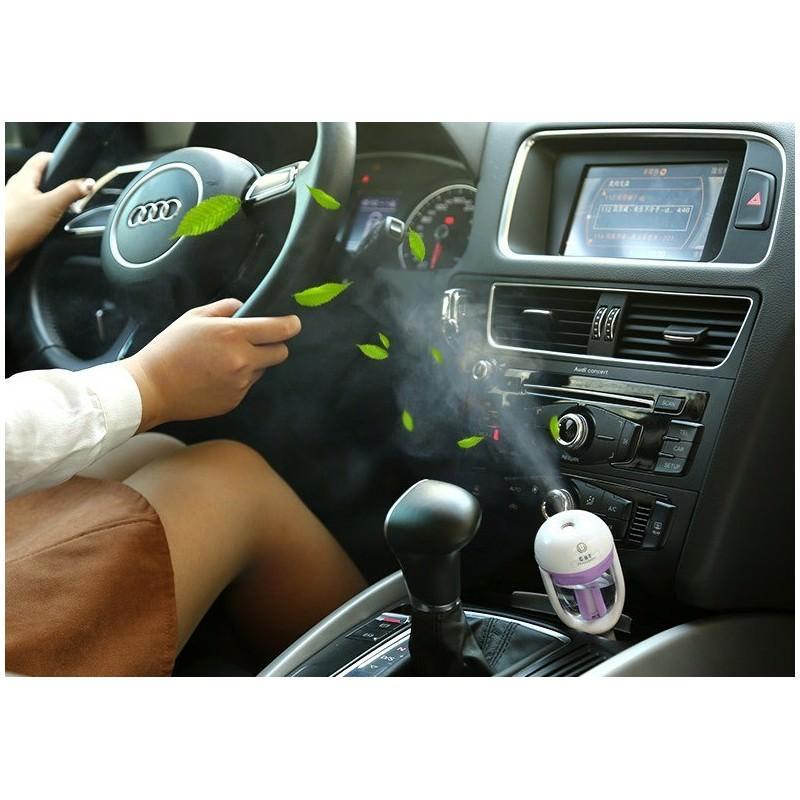 Автомобильный увлажнитель/ освежитель воздуха NanoFog: 2 режима работы, объем 50 мл, можно использовать аромамасла 198465