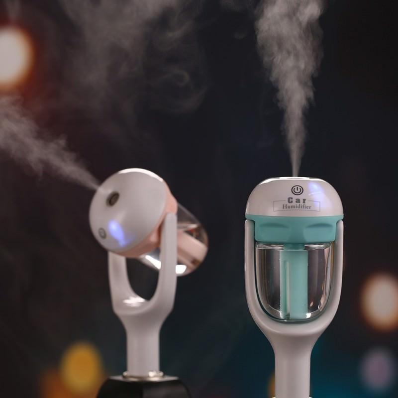Автомобильный увлажнитель/ освежитель воздуха NanoFog: 2 режима работы, объем 50 мл, можно использовать аромамасла 198475