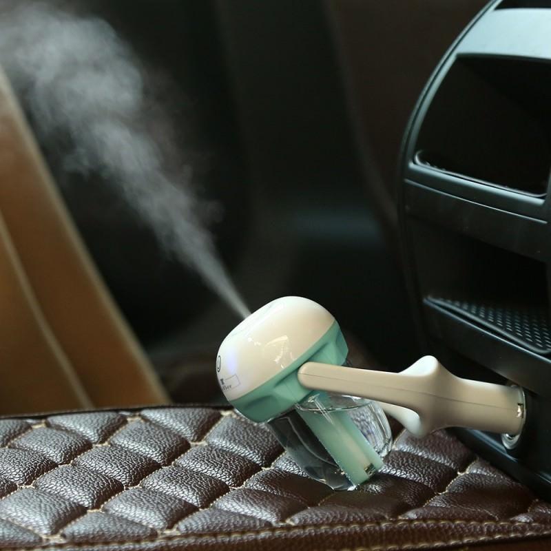 Автомобильный увлажнитель/ освежитель воздуха NanoFog: 2 режима работы, объем 50 мл, можно использовать аромамасла 198476