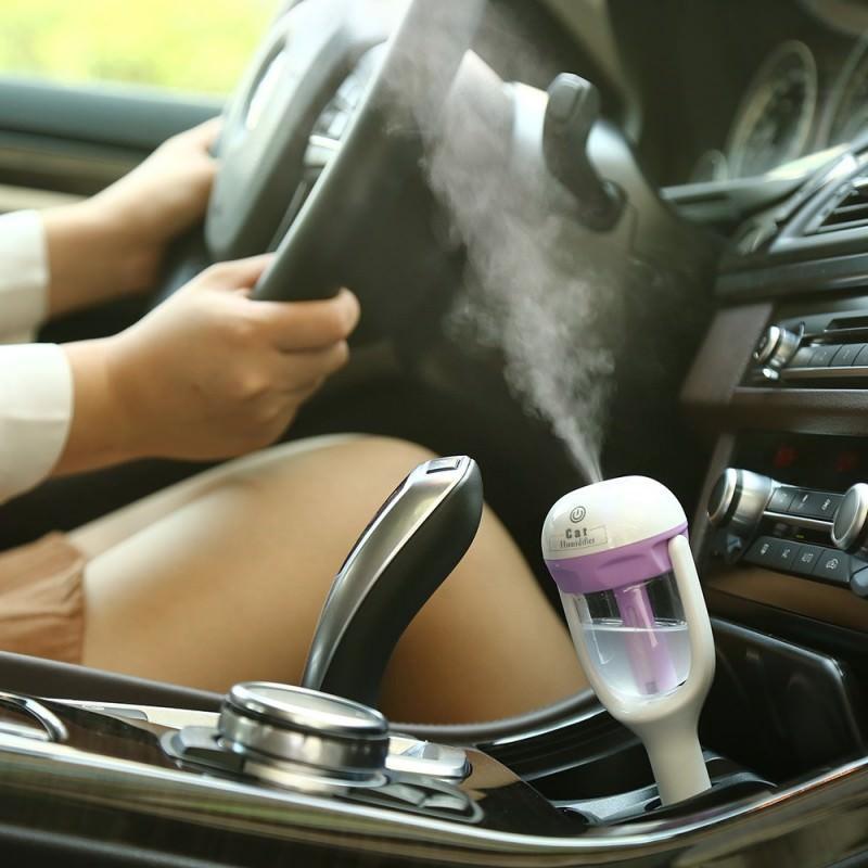 Автомобильный увлажнитель/ освежитель воздуха NanoFog: 2 режима работы, объем 50 мл, можно использовать аромамасла 198477