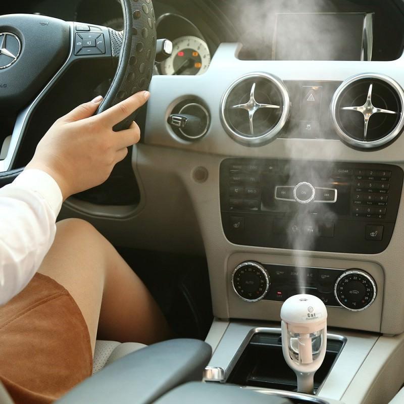 Автомобильный увлажнитель/ освежитель воздуха NanoFog: 2 режима работы, объем 50 мл, можно использовать аромамасла 198479