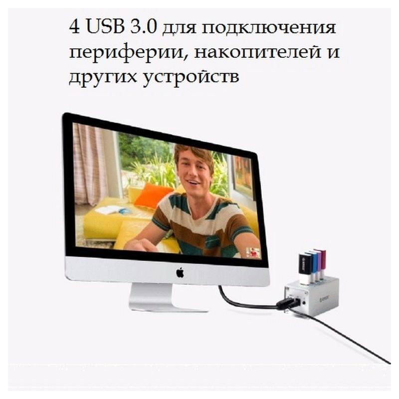 HUB на 4 USB 3.0 для ноутбука и компьютера 198504