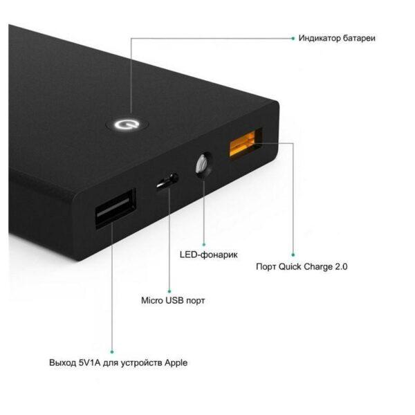 18393 - Внешний аккумулятор для быстрой зарядки Aukey Quick Charge 2.0 емкостью 15000 мАч