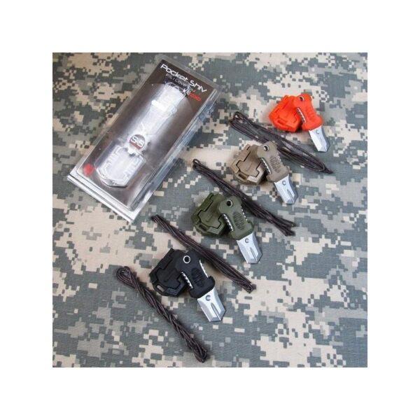 18476 - Многофункциональный EDC мини-нож для нательного, карманного ношения: сталь 440C, крепление M.O.L.L.E.